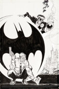 Original Comic Art:Covers, Trevor Von Eeden and Joe Rubinstein Batman: ...