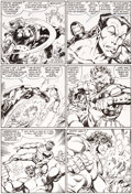 Original Comic Art:Panel Pages, John Byrne Incredible Hulk #316 Page 16 Original Art(Marvel, 1986)....
