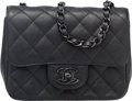 """Luxury Accessories:Bags, Chanel So Black Black Quilted Leather Mini Flap Bag. Condition:1. 6.5"""" Width x 5.5"""" Height x 2.5"""" Depth. ..."""