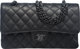 """Chanel So Black Black Quilted Leather Medium Double Flap Bag Condition: 1 10"""" Width x 6"""" Height x 2.5"""" De..."""