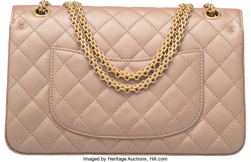 f669813dfaf234 Chanel Metallic Champagne Gold Quilted Leather Reissue 226   Lot #58016    Heritage Auctions