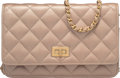 "Luxury Accessories:Bags, Chanel Metallic Champagne Gold Quilted Leather Reissue Wallet onChain Bag. Condition: 1. 7.5"" Width x 5"" Height x1.5..."