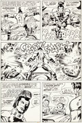 Original Comic Art:Panel Pages, Jack Kirby and D. Bruce Berry OMAC #2 Page 4 Original Art(DC, 1974)....