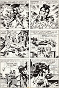 Original Comic Art:Panel Pages, Jack Kirby and D. Bruce Berry OMAC #2 Page 9 Original Art(DC, 1974)....