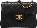 "Luxury Accessories:Bags, Chanel Black Quilted Lambskin Leather Small Single Flap Bag.Condition: 3. 6.5"" Width x 5.5"" Height x 2.5"" Depth...."