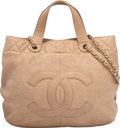 """Luxury Accessories:Bags, Chanel Metallic Gold Leather Tote Bag. Condition: 3. 13""""Width x 11"""" Height x 4"""" Depth. ..."""