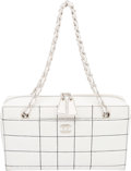 "Luxury Accessories:Bags, Chanel White Quilted Leather Tote Bag. Condition: 4. 11.5"" Widthx 6.5"" Height x 3"" Depth. ..."