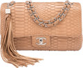 "Luxury Accessories:Bags, Chanel Beige Python Medium Flap Bag. Condition: 2. 10""Width x 6"" Height x 3.5"" Depth. ..."