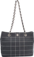 "Luxury Accessories:Bags, Chanel Navy Blue Square Quilted Leather Shoulder Bag. Condition:4. 11.5"" Width x 9"" Height x 4"" Depth. ..."