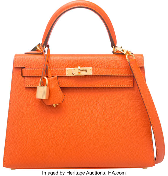 7b0926b260a5 Hermes 25cm Feu Epsom Leather Sellier Kelly Bag with Gold