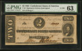 Confederate Notes:1862 Issues, T54 $2 1862 PF-11 Cr. 392. PMG Choice Uncir...