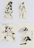Original Comic Art:Miscellaneous, John Buscema - Practice Sketch Original Art Group of 5 (c.1980s-90s). ... (Total: 5 Original Art)