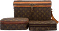 "Luxury Accessories:Travel/Trunks, Louis Vuitton Set of Three; Classic Monogram Canvas Bags.Condition: 4. 12.5"" Width x 8.5"" Height x 8.5"" Depth.8""... (Total: 3 Items)"