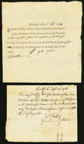 Colonial Notes:Connecticut, Revolutionary War Hartford, Connecticut Pay Table Committee £25.18 Sep. 23, 1782 XF;. Contemporary Documentation for A... (Total: 2 items)
