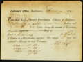 Colonial Notes:Maryland, Baltimore, (MA) Collector's Office $78.35 Aug. 27, 1798 About New.....