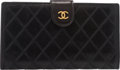 "Luxury Accessories:Accessories, Chanel Black Quilted Lambskin Leather Wallet. Condition: 3.7"" Width x 4"" Height x 1/2"" Depth. ..."