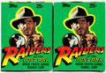 Memorabilia:Trading Cards, Raiders of the Lost Ark Unopened Trading Cards Wax Pack BoxGroup of 2 (Topps, 1981).... (Total: 2 Items)