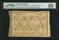 Colonial Notes:Maryland, Maryland Army Certificate £125 March 28, 1783 Anderson MD-2 PMGChoice Very Fine 35.. ...