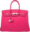 Luxury Accessories:Bags, Hermes Limited Edition Candy Collection 35cm Rose Tyrien &...
