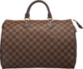 "Luxury Accessories:Bags, Louis Vuitton Damier Ebene Canvas Speedy 35 Bag. Condition:2. 14"" Width x 9.5"" Height x 7.5"" Depth. ..."