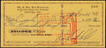 Football Collectibles:Others, 1966 Ron Kostelnik Signed Check - (Twice Signed)! ...