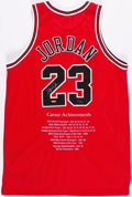 Basketball Collectibles:Uniforms, 1997-98 Michael Jordan UDA Signed Chicago Bulls Jersey - #'d11/123....