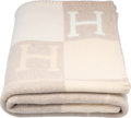 "Luxury Accessories:Home, Hermes Coconut & Chamomile Wool and Cashmere Avalon Blanket.Condition: 1. 53"" Width x 67"" Length. ..."