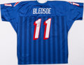 Football Collectibles:Uniforms, Drew Bledsoe Signed New England Patriots Jersey. ...