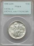 Commemorative Silver, 1938-S 50C Oregon MS64 PCGS. PCGS Population: (450/1489). NGC Census: (180/1046). CDN: $180 Whsle. Bid for problem-free NGC...