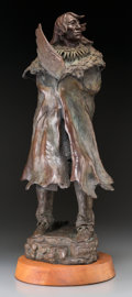 Fine Art - Sculpture, American, Joe Beeler (American, 1931-2006). The Elder. Bronze withpolychrome. 26-1/2 inches (67.3 cm) high on 2 inches (5.1 cm) h...