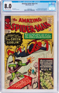 Silver Age (1956-1969):Superhero, The Amazing Spider-Man #14 (Marvel, 1964) CGC VF 8.0 Off-white towhite pages....