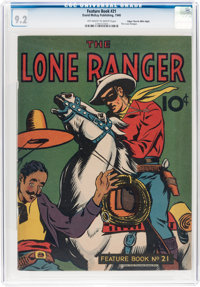 Feature Books #21 The Lone Ranger - Mile High Pedigree (David McKay Publications, 1940) CGC NM- 9.2 Off-white to white p...