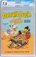 Golden Age (1938-1955):Cartoon Character, Four Color #9 Donald Duck (Dell, 1942) CGC VF- 7.5 Cream to off-white pages....