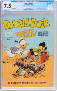 Four Color #9 Donald Duck (Dell, 1942) CGC VF- 7.5 Cream to off-white pages