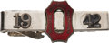 Football Collectibles:Others, 1942 Les Horvath Ohio State National Champions Tie Clasp. ...