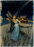 Original Comic Art:Covers, Robert Abbett - Gothic Romance Paperback Novel Cover Painting Original Art (Bantam, c. 1960-70s)....