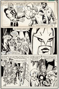 Mike Vosburg What If? #36 Story Page 7 Nova Original Art, Rough Layout, and Prod Comic Art