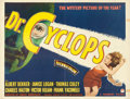 "Movie Posters:Horror, Doctor Cyclops (Paramount, 1940). Trimmed Half Sheet (21"" X 28"")Style A.. ..."
