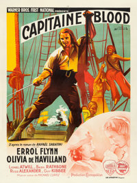 "Captain Blood (Warner Brothers, 1936). French Grande (47"" X 63"") Jacques Bonneau Artwork"