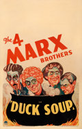 "Movie Posters:Comedy, Duck Soup (Paramount, 1933). Window Card (14"" X 22"") Sam BermanArtwork.. ..."
