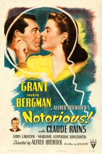 "Notorious (RKO, 1946). One Sheet (27"" X 41"")"