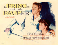 "The Prince and the Pauper (Warner Brothers, 1937). Linen Finish Half Sheet (22"" X 28"")"