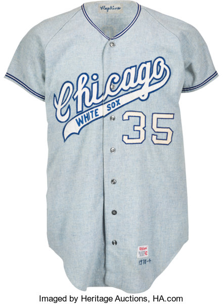 wholesale dealer e46e3 5a961 1970 Gail Hopkins Game Worn Chicago White Sox Jersey ...