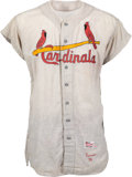 Baseball Collectibles:Uniforms, 1958 Del Ennis Game Worn St. Louis Cardinals Jersey. ...