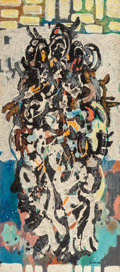 Post-War & Contemporary, Irving G. Lehman (American, 1900-1982). Untitled (Abstract),1960. Oil on Masonite. 48 x 24 inches (121.9 x 61.0 cm). Si...