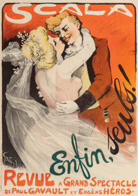Jules Alexandre Grün (French, 1868-1934) Scala Enfin, seuls!, 1901 Lithograph in colors on paper