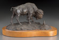 American:Western, Clark Everice Bronson (American, b. 1939). PrairieNeighbors, 1971. Bronze with brown patina. 5-1/2 inches (14.0cm) hig...