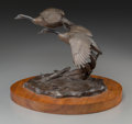 Fine Art - Sculpture, American, Clark Everice Bronson (American, b. 1939). Wild Wings, 1975.Bronze with brown patina. 8 inches (20.3 cm) high on a 1 in...