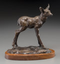 Fine Art - Sculpture, American:Contemporary (1950 to present), Clark Everice Bronson (American, b. 1939). Forest Baby,1974. Bronze with brown patina. 7-1/4 inches (18.4 cm) high on a...
