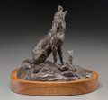 Fine Art - Sculpture, American:Contemporary (1950 to present), Clark Everice Bronson (American, b. 1939). Coyote, 1970.Bronze with brown patina. 7 inches (17.8 cm) high on a 1-1/2 in...